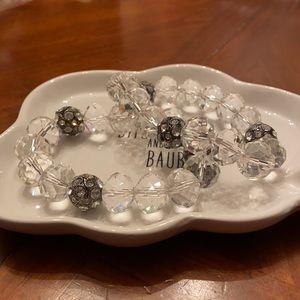 Two Vintage Givenchy Swarovski Crystal Bracelets